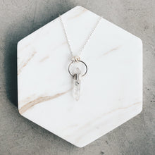 Load image into Gallery viewer, Raw Tibetan Quartz and Silver Halo Necklace