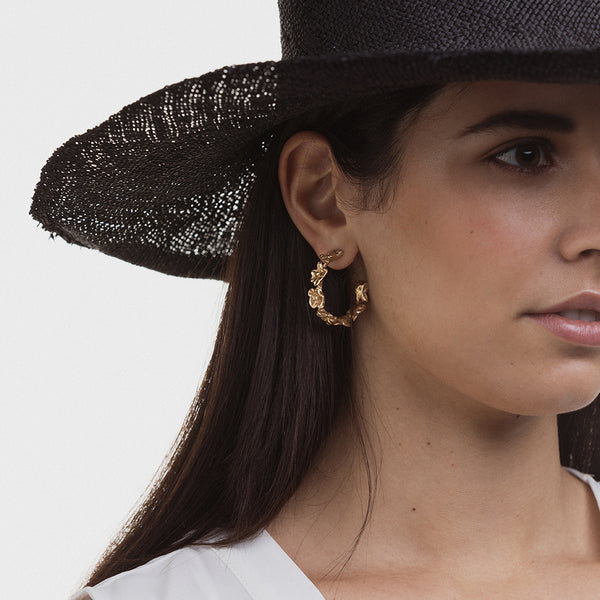 Poetica Hoop Earrings - Giulia Barela Gioielli/Jewlery