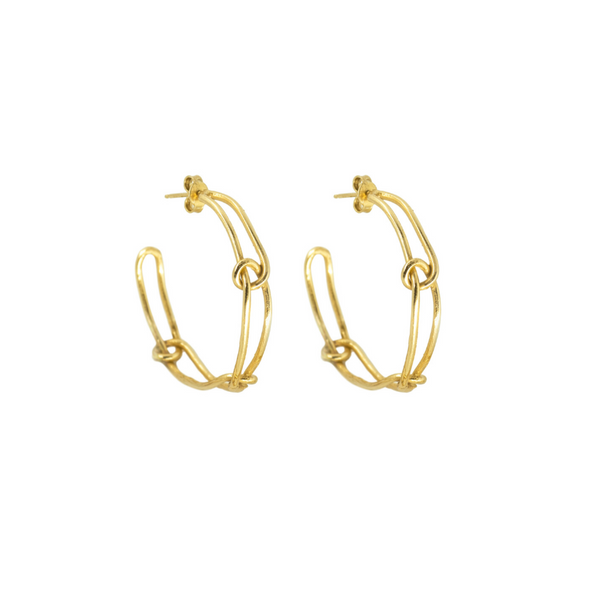 Knot Light Hoop Earrings