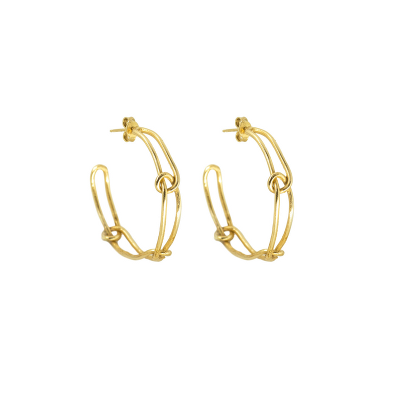 Knot Light Hoop Earrings - Giulia Barela Gioielli/Jewlery