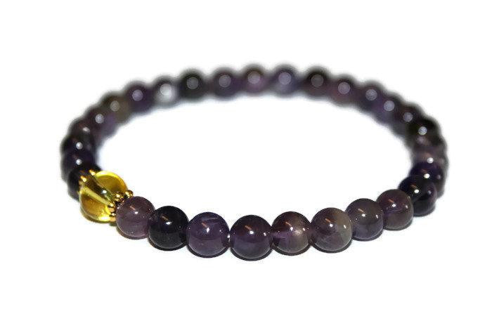 Women's Amethyst-Citrine Beaded Bracelet | Best Friend Gift for Her | Healing Crystals - Zendelux Rose