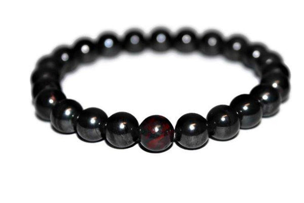 AAA Genuine Natural Sugilite- Bloodstone Bracelet | Beaded Bracelet | Healing Crystals & Stones Jewelry - Zendelux Rose