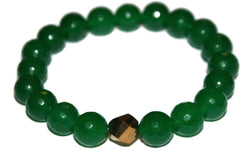 Rock Candy Jade Collection - Women's Green Apple Bracelet - Zendelux Rose