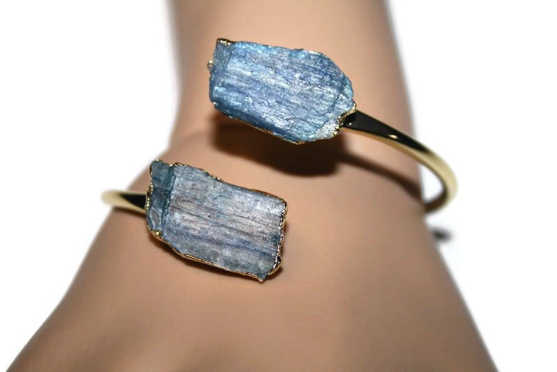 Bangle Collection | Kyanite Gold Bangle | Kyanite Jewelry - Zendelux Rose