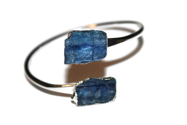 Bangle Collection | Kyanite Silver Bangle - Zendelux Rose