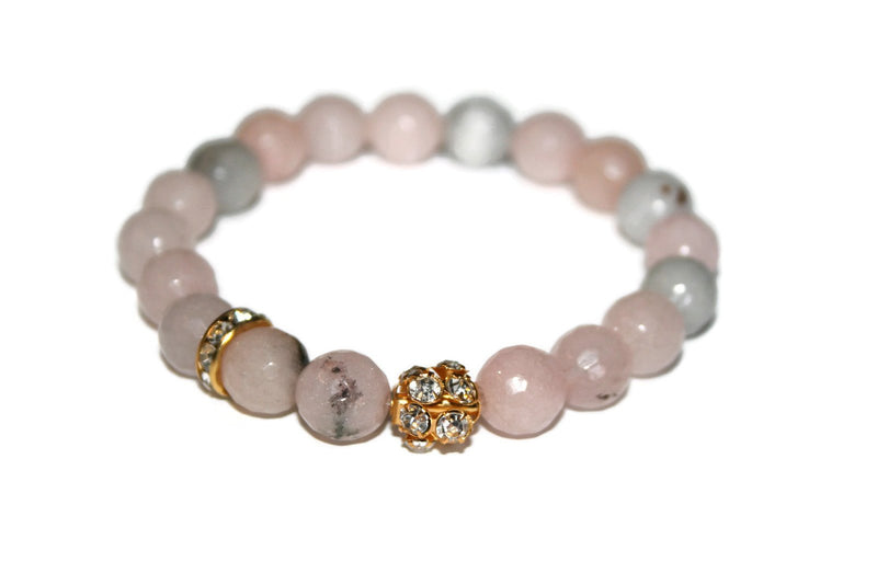 Women's Natural Cherry Blossom Jasper Bracelet | Pink Fashion Bracelet for Women Jewelry | Healing Crystal Bracelet - Zendelux Rose