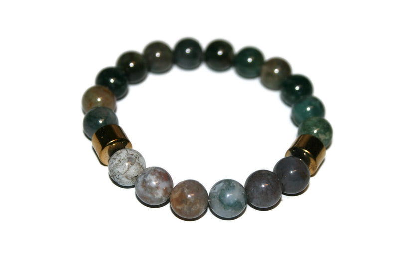 Men's Indian Agate Bracelet | Luxury Handmade Bracelet | Healing Crystals & Stones Jewelry for Men - Zendelux Rose