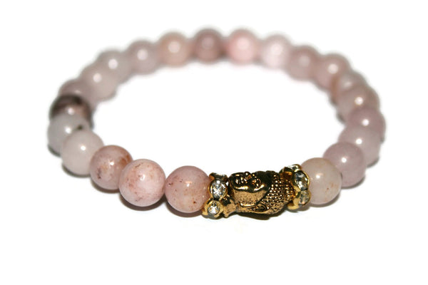 Women's Cherry Blossom Jasper Buddha Bracelet | Healing Crystals for Women | Luxury Handmade Bracelet
