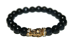Women's Dark Blue Jade Buddha Bracelet | Healing Crystals for Women | Luxury Handmade Bracelet