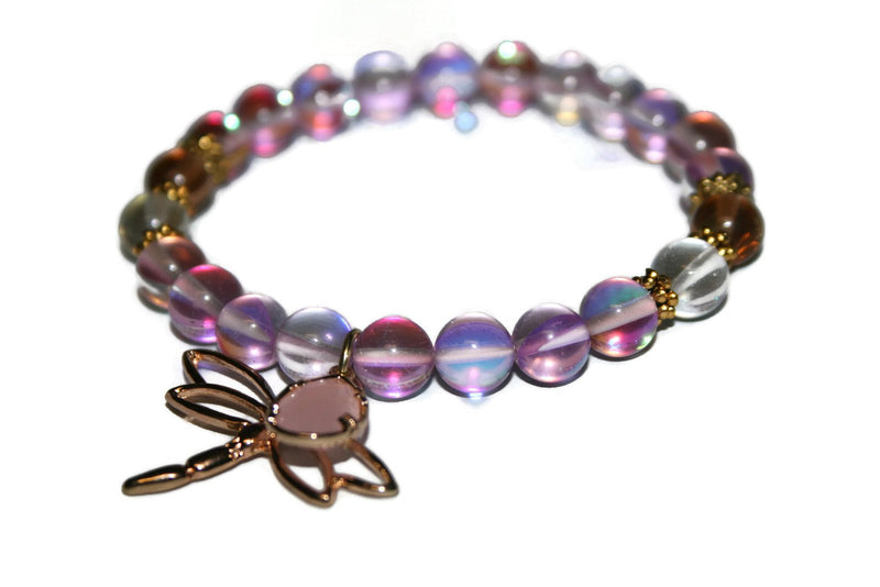 Women's Rose Quartz Aura Bracelet | Healing Crystal Bracelet | Handmade Luxury Bracelet for Women