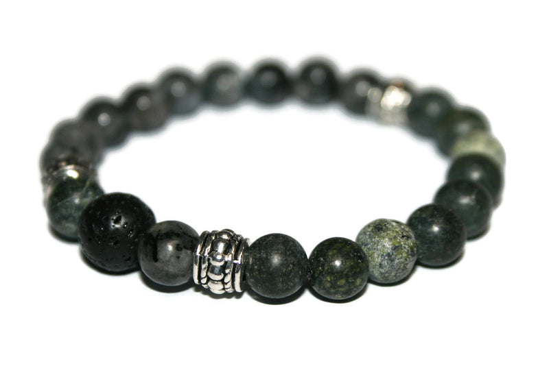 Men's Jasper & Labradorite Bracelet | Gemstone Bracelets for Men | Beaded Jewelry for Men - Zendelux Rose