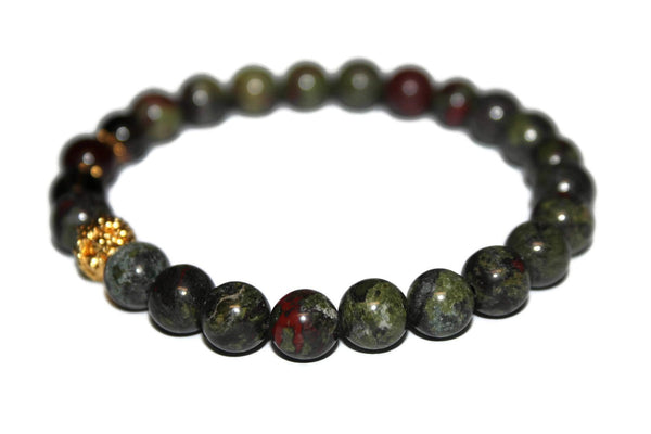 Men's Agate, Smoky Quartz & Bloodstone  Bracelet | Yoga Bracelet | Beaded Bracelet - Zendelux Rose