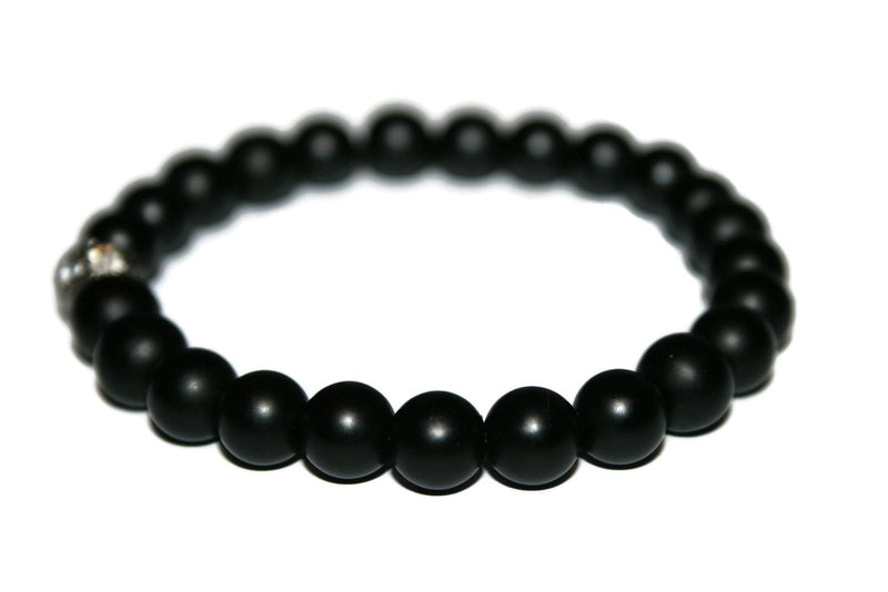 Onyx Bracelet | Gemstone Jewelry | Handmade Beaded Bracelet for Men & Women - Zendelux Rose