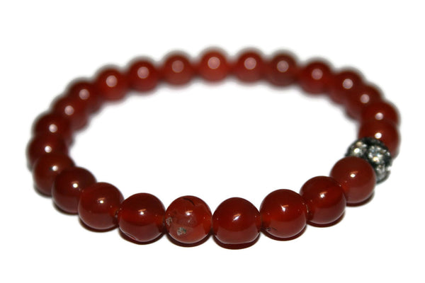 Carnelian Bracelet | Gemstone Jewelry | Handmade Beaded Bracelet for Men & Women - Zendelux Rose