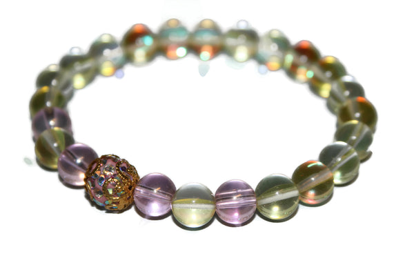 Women's Aura Quartz Bracelet | Healing Crystals for Women