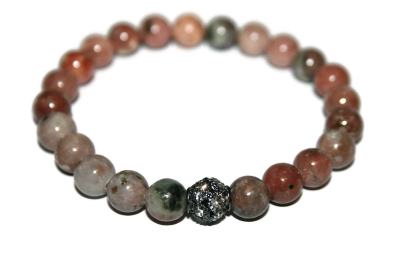 Jasper Bracelet | Gemstone Jewelry | Handmade Beaded Bracelet for Men & Women - Zendelux Rose
