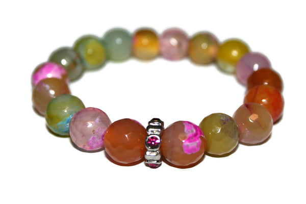 Women's Rainbow Beaded Bracelet | Handmade Bracelet for Women | Gifts for Her