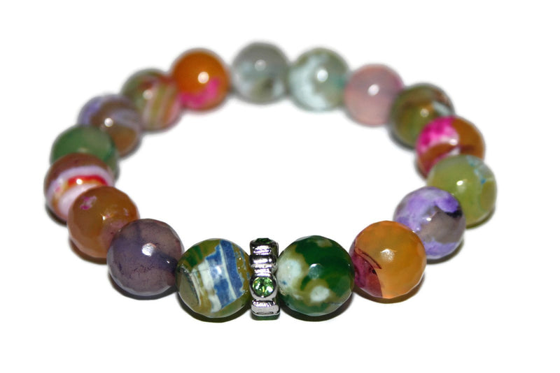 Women's Rainbow Agate Bracelet | Fashion Jewelry for Women | Gift Ideas for Her