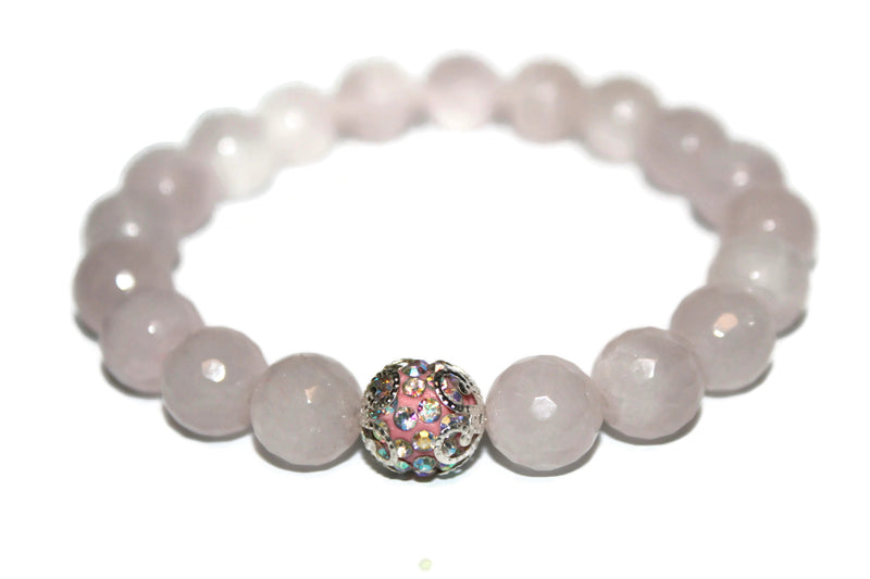 Women's Rose Quartz Bracelet | Healing Crystals for Women | Pink Bead Bracelet - Zendelux Rose
