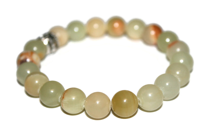 Natural Jade Bracelet | Dragon Bracelet | Jade Crystal Bracelet | Yoga Jewelry - Zendelux Rose