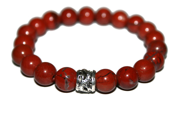 Red Jasper Bracelet | Dragon Bracelet | Healing Crystals Jewelry | Red Bead Bracelet - Zendelux Rose