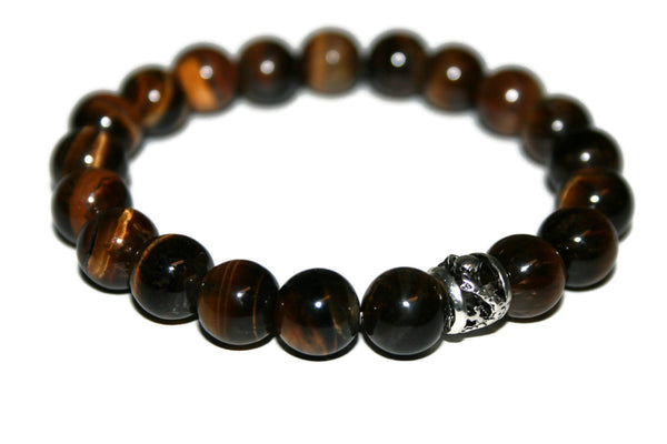 Men's Tiger Eye  Bracelet | Dragon Bracelet | Brown Bead Bracelet - Zendelux Rose