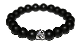 Men Matte Black Onyx Bracelet | Dragon Bracelet | Black Bead Bracelet - Zendelux Rose