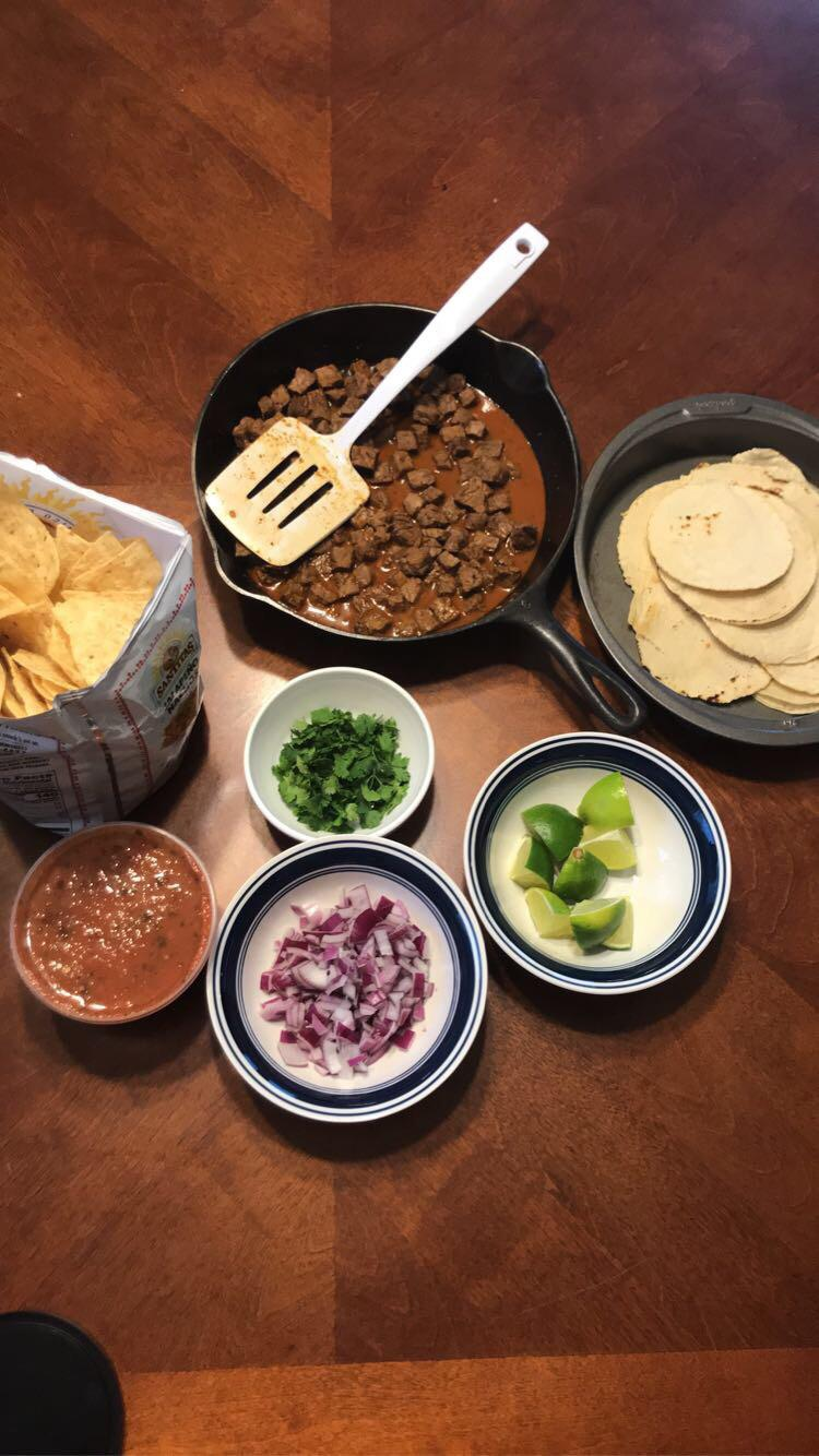 mexican tacos with homemade tortillas