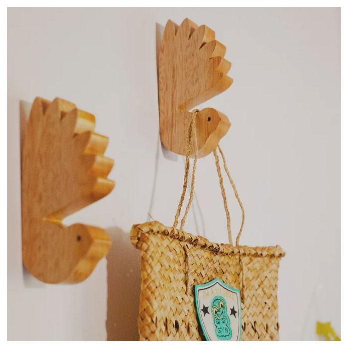 Wooden Bird Wall Hook – Fantail