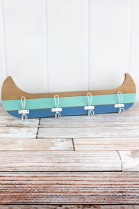 7 x 23.5 Tri-Color Wood Canoe Wall Hook