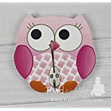 Pink Owl Girls Clothes Peg Rack Clothing Rack, Hat Holder for Kids Bedroom Baby Nursery WH0017