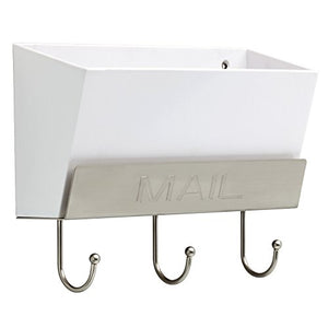 LIBERTY MAILHLD-WSN-R Classic Mail Holder with 3 Hooks, 10""
