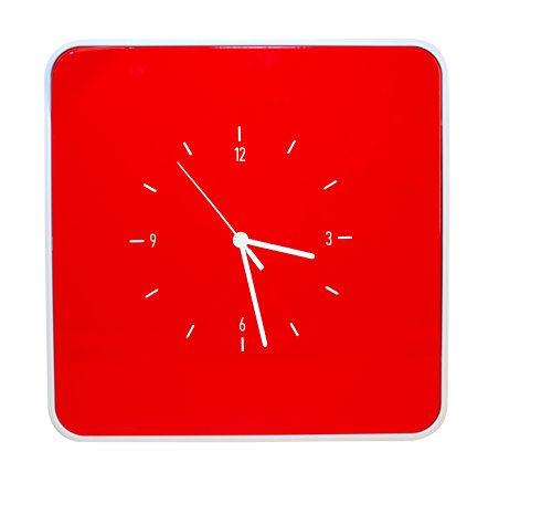 Paperflow MultiBox 12-Key Holder with Clock, 12.6 x 12.6 x 2.4 Inches, Red (MTBKHC.18)