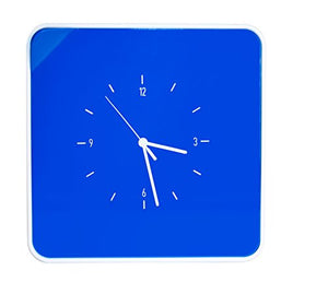 Paperflow MultiBox 12-Key Holder with Clock, 12.6 x 12.6 x 2.4 Inches, Blue (MTBKHC.06)