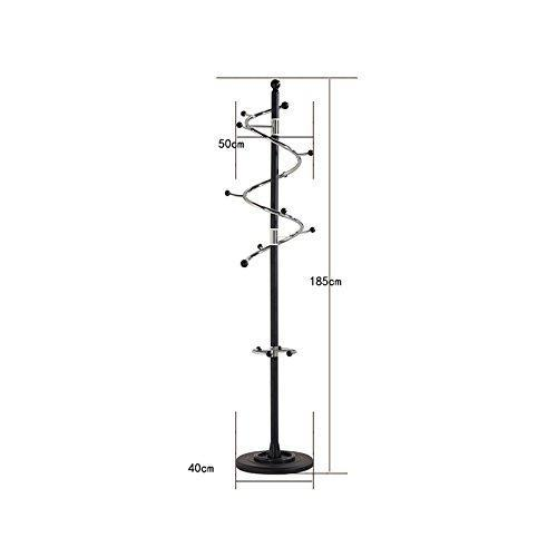 Kitchen baiyun flyin mai coat rack metal stainless steel bedroom pedestal style living room hanger swivel hook h185cm color white