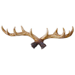 Enerhu Vintage Deer Antlers Wall Hooks Antique Clothes Hanger Rack Coat Hooks for Home
