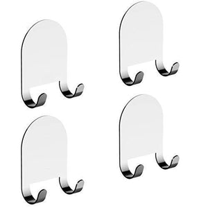 Amazon best 3m adhesive all purpose hooks by home so heavy duty hook hanger sticks anywhere holds anything towels keys coats loofahs wreath jacket hat clothing pack of 4 stainless steel chrome