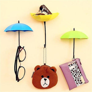 3Pcs Colorful Umbrella Wall Hook Key Hair Pin Holder Wall Hook Hanger HOT Room Decorative