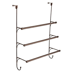 Franklin Brass 193153-CBZ Over-Door Triple Towel Rack, Bronze
