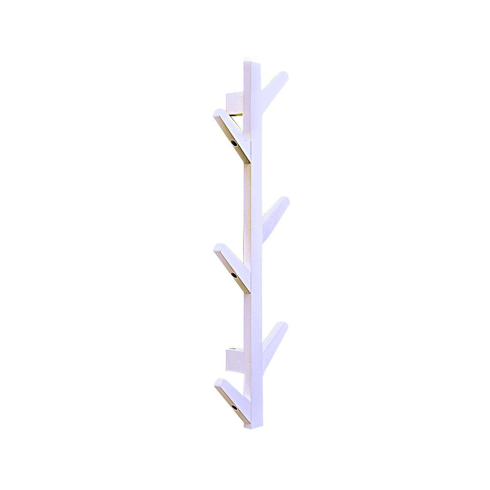 E-Goal 10 Hooks Bamboo Tree Wall Coat Rack Wall Mounted Hanger Storage Organiser Coat Hat Rack Hook for Home Bedroom Decoration Size:122.8×21.5×7cm/48.3×8.4×2.7 inch