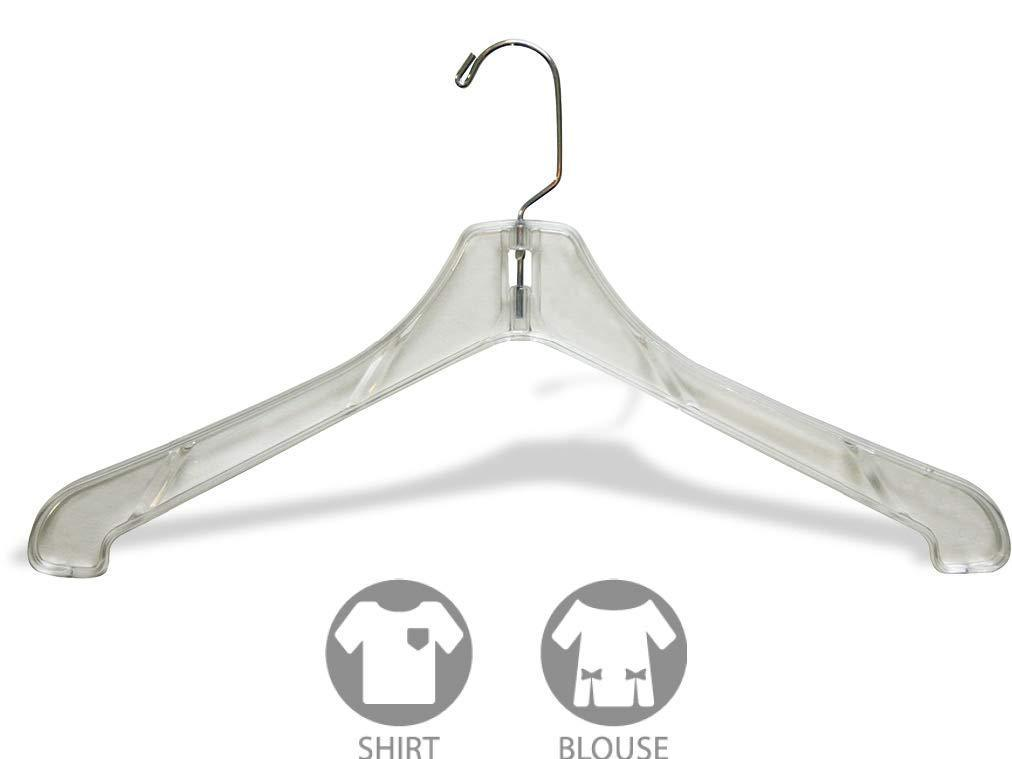 Kitchen the great american hanger company heavy duty clear plastic coat hanger box of 100 sturdy 1 2 inch thick top hangers w 360 degree chrome swivel hook for jacket or uniform