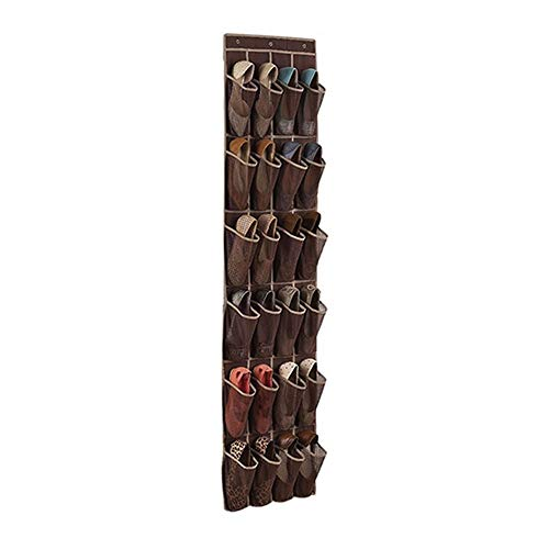 Give Gift 24 Pocket - Over Door Shoe Organizer Hanging Storage Holder Rack Use for Shoes Closet Accessory