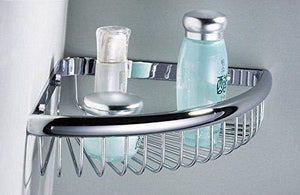 Beelee Rustproof Corner Triangular Bath Shelf Shower Caddy,Wall Mounted Stainless Steel Basket Dishrack for Shampoo Conditioner Bathroom Kitchen Organizer