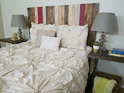 Fall Mix Headboard Design - California King Size Hanger Style Handcrafted. Mounts on Wall. Easy Installation