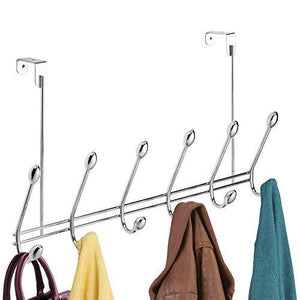 Storage watimas over door storage rack organizer hooks for coats hats robes clothes or towels