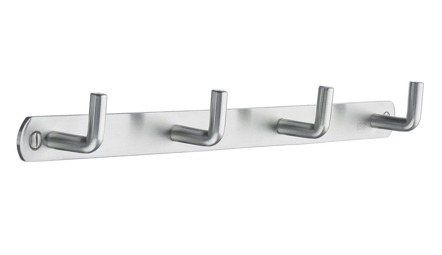 Amazon smedbo b1054 quadruple coat rack brushed stainless steel
