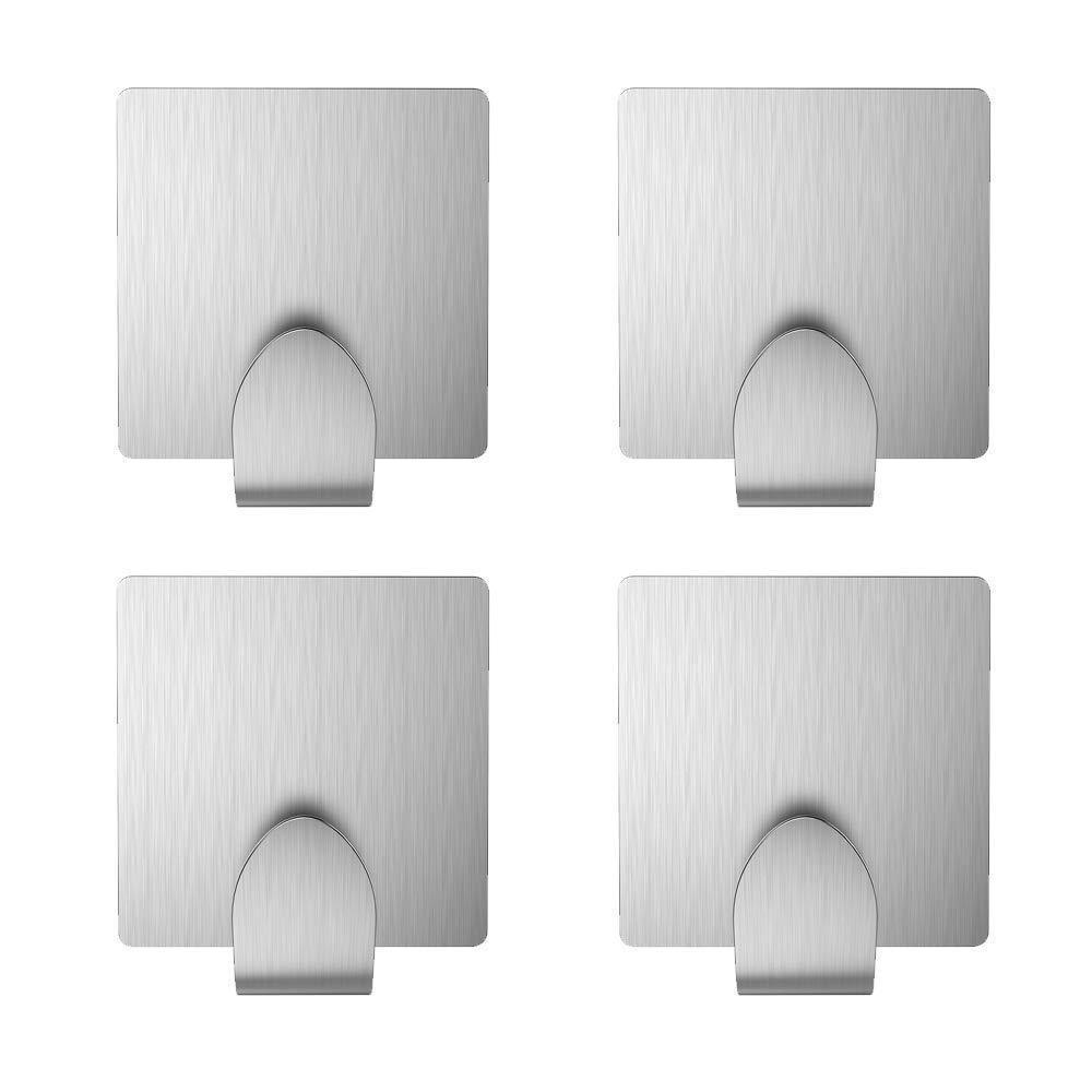 Related adhesive key hooks kone 3m self adhesive wall hooks stainless steel hooks for hanging robe coat towel bags 4 pack