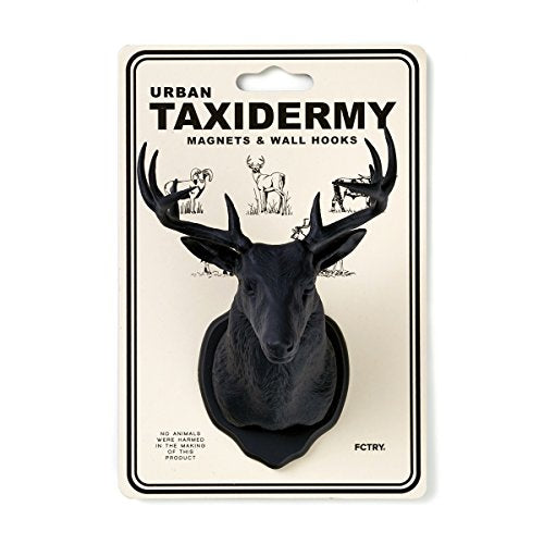 FCTRY Urban Taxidermy Magnet and Wall Hook Deer - Black