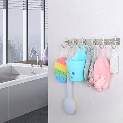 Featured caligrafx coat hooks heavy duty single hat kitchen bath towel hook robe closet clothes hanger rail garment rack holder home wall mounted