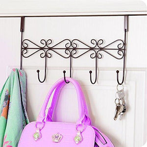 Try obmwang over the door 5 hook rack decorative organizer hooks for clothes coat hat belt towels stylish over door hanger for home or office use l x w x h 15 x 2 x 9 inch